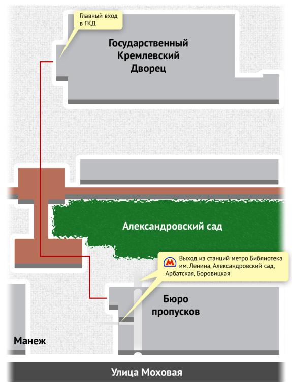 схема проезда через задний вход к малому гуму официальная
